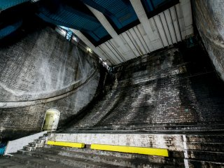 Inside Tower Bridge's Bascule Chambers, underneath the road