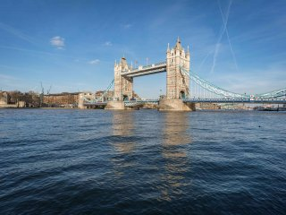 Tower Bridge on a clear sunny day