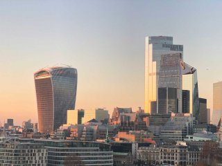 Image of the City taken from Tower Bridge, including the Walkie Talkie and 22 Bishopgate